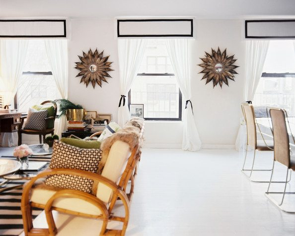 Four chic alternatives to traditional window treatments for Traditional window treatments living room